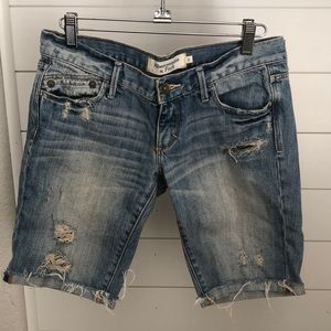 Abercrombie & Fitch long Bermuda style jean shorts